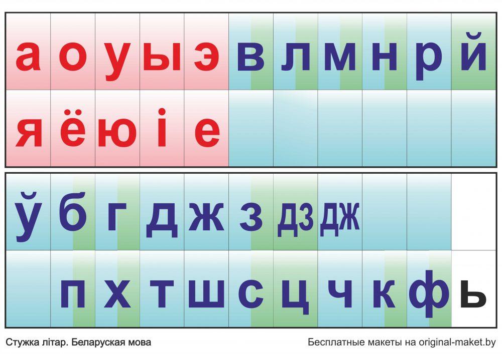 Лента букв белорусского языка