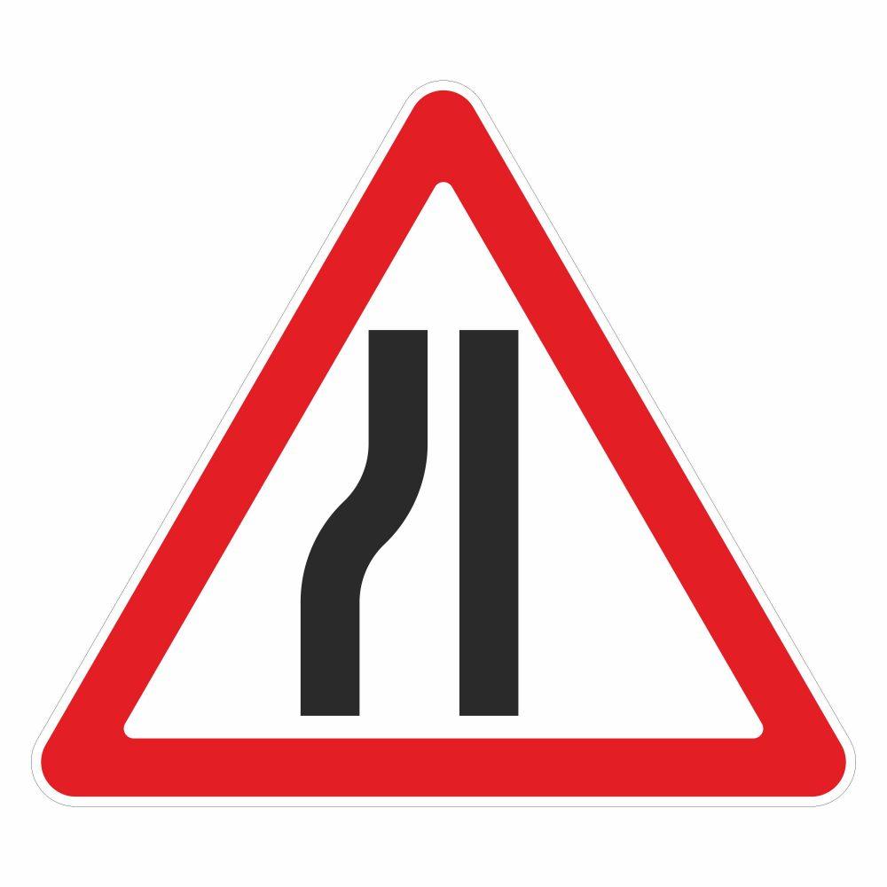 Дорожный знак 1.18.3 (1.20.3) сужение дороги