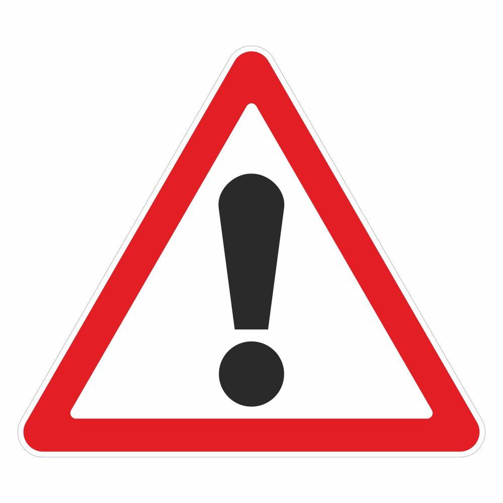 """Дорожный знак в векторе """"Прочие опасности"""""""