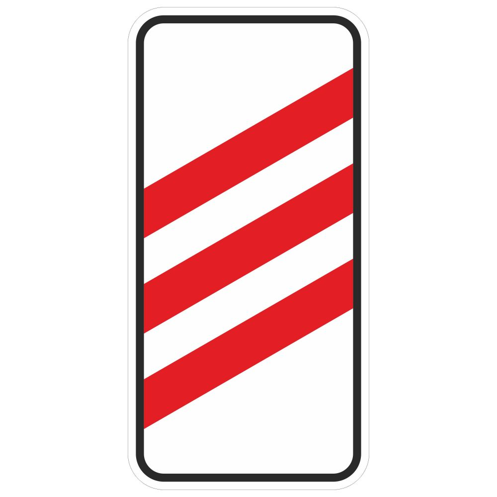 Дорожный знак 1.4.1 в векторе
