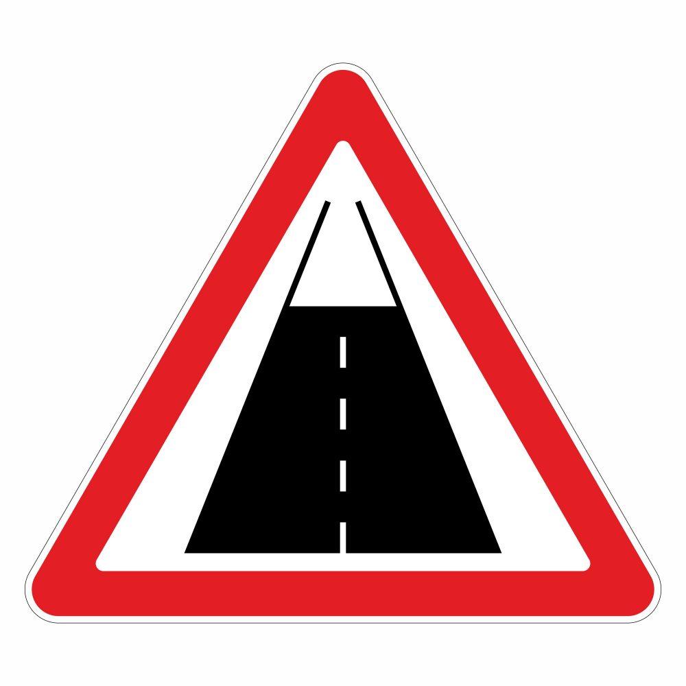"""Дорожный знак """"Конец дороги с усовершенствованным покрытием"""""""